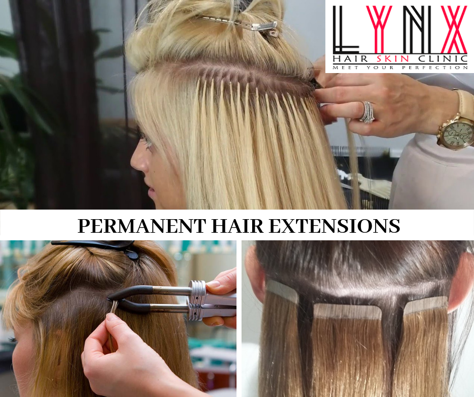 various methods of permanent hair extensions